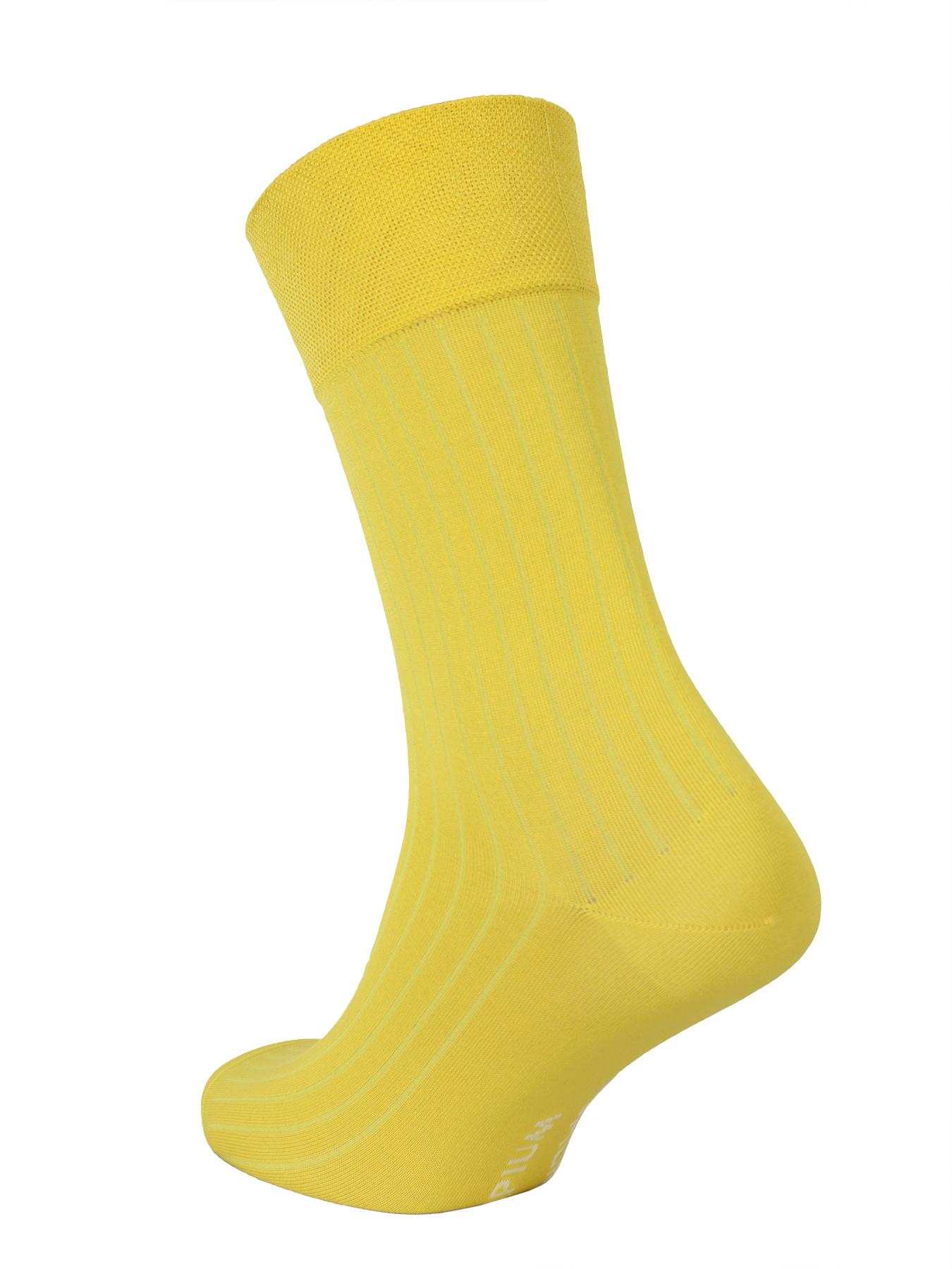 """Носки мужские Opium Premium """"в рубчик"""" желтый"""